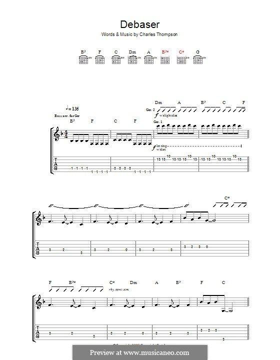 Debaser The Pixies Guitar Songs Black Francis Guitar Tabs