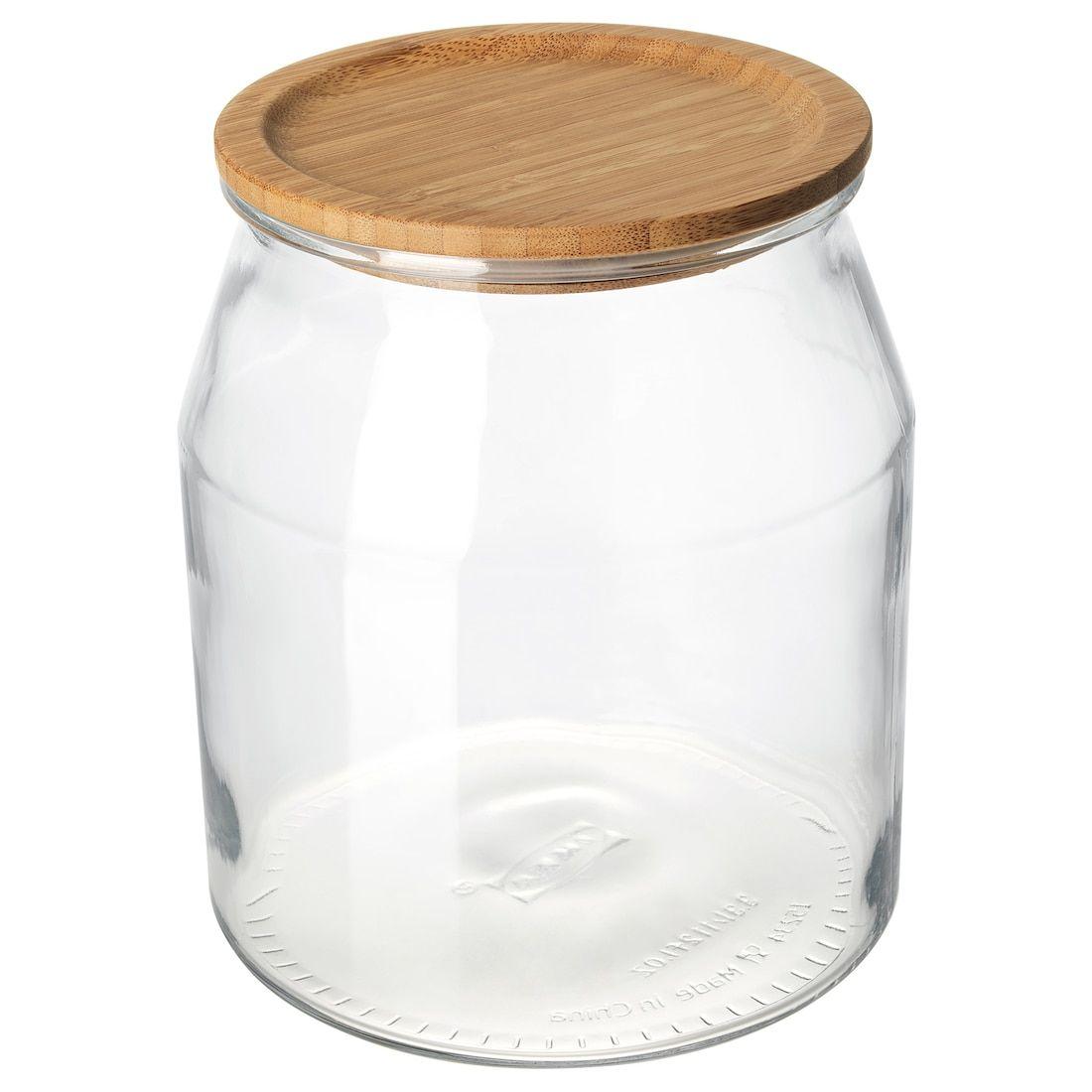 Ikea Ikea 365 Glass Bamboo Jar With Lid In 2019 Ikea Jars
