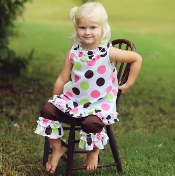 Multi Dots Top and Pant