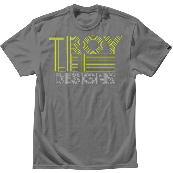 Troy Lee Designs T Shirt Linear Heather Charcoal