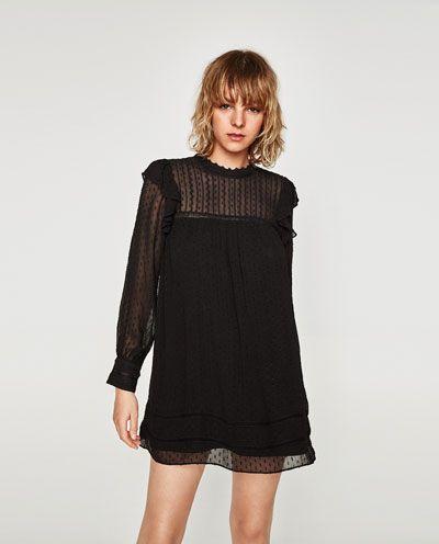 2019 real gran variedad de estilos mayor selección de Imagen 2 de VESTIDO PLUMETI de Zara   Outfits   Dresses, Lil ...