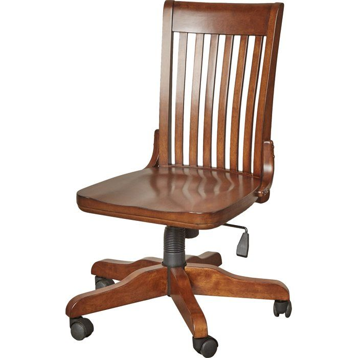 Seger High Back Bankers Chair Chair Wood Office Chair Antique Oak Desk