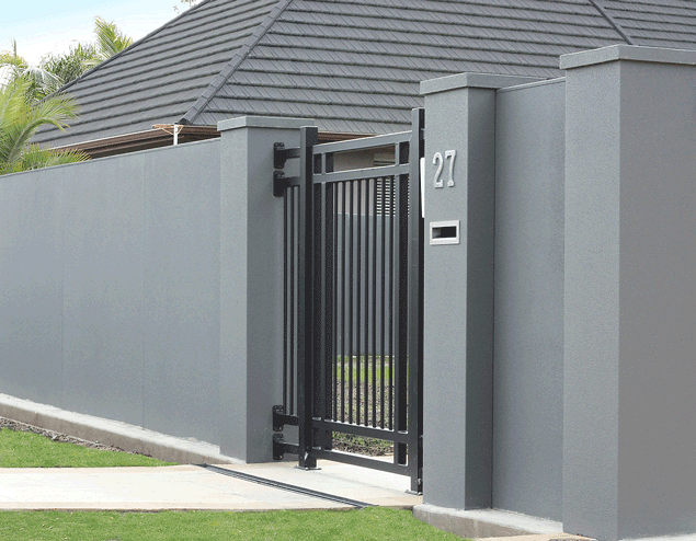 Ворота в дом схема