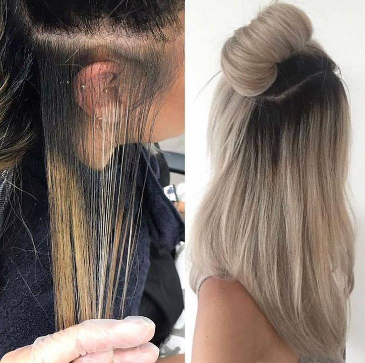Brassy Blonde To Light Ash Blonde Valentina Pinity Hair Styles Light Hair Light Ash Blonde