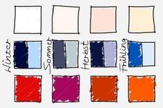 Bei Weiß Blau Und Rot Gibt Es Für Jeden Farbtyp Passende Kombination