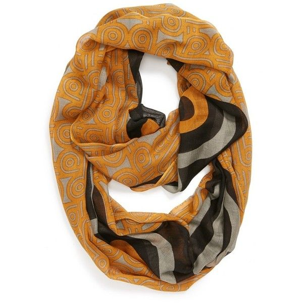 Women's Jonathan Adler Woven Infinity Scarf ($45) ❤ liked on Polyvore featuring accessories, scarves, infinity scarves, woven scarves, loop scarves, circle scarf and infinity loop scarves