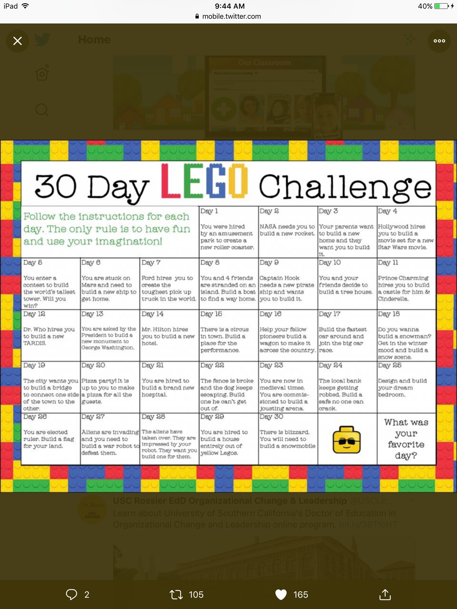 Lego Challenges In