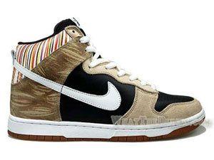 watch 882c3 150a3 Nike Dunk High Top Premium Paul Urich Skeleton Rainbow Edition Black White  Shoes