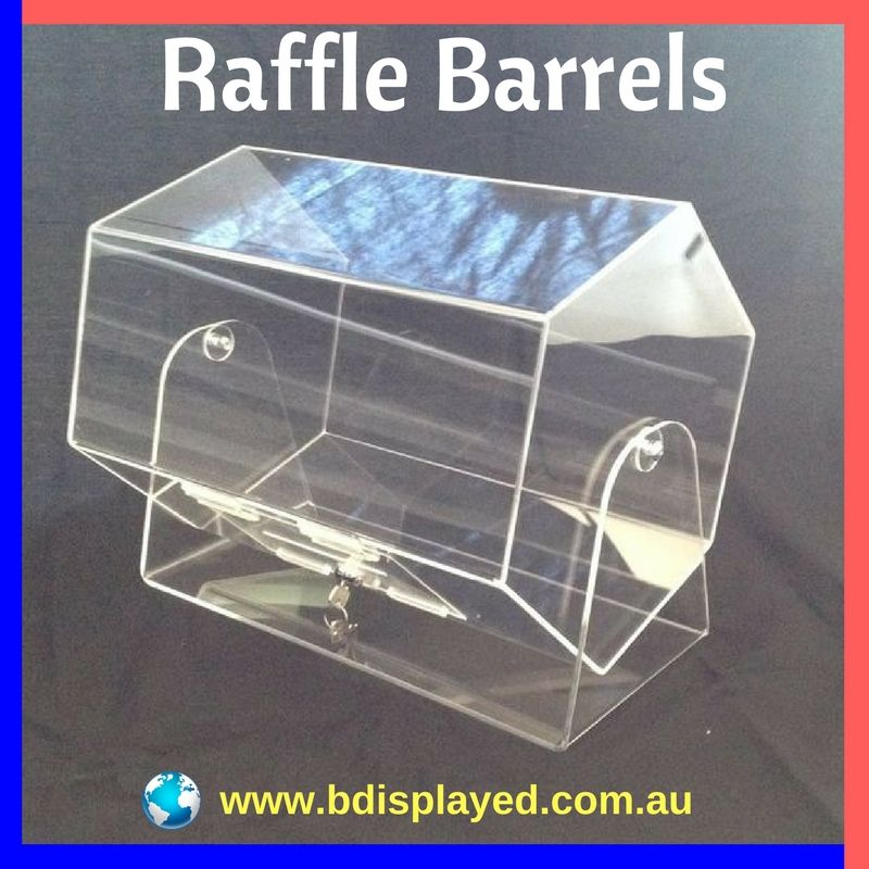 Looking For Raffle Barrels  At B Displayed, we work closely with valued Partners to be able to achieve your visual presence in the market place without too much time taken up by you, the client.