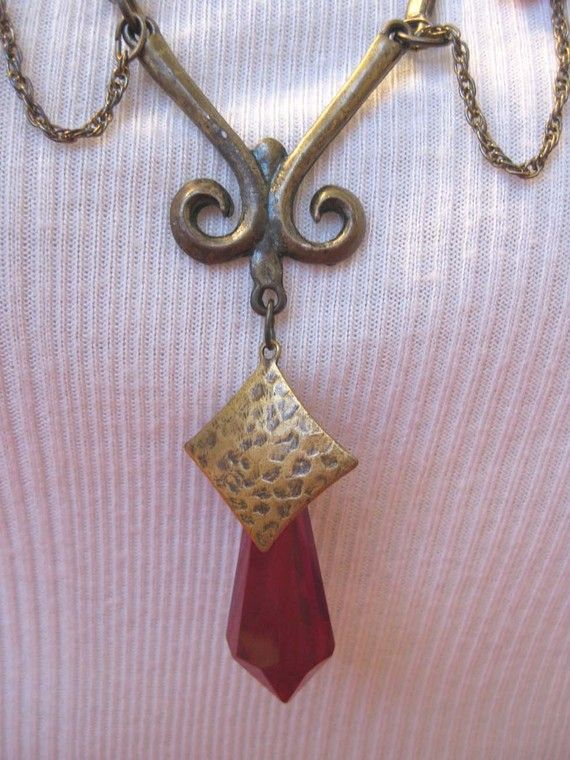 Valentine Red Crystal Necklace a Romantic by VeryEpicJewelry, $23.00
