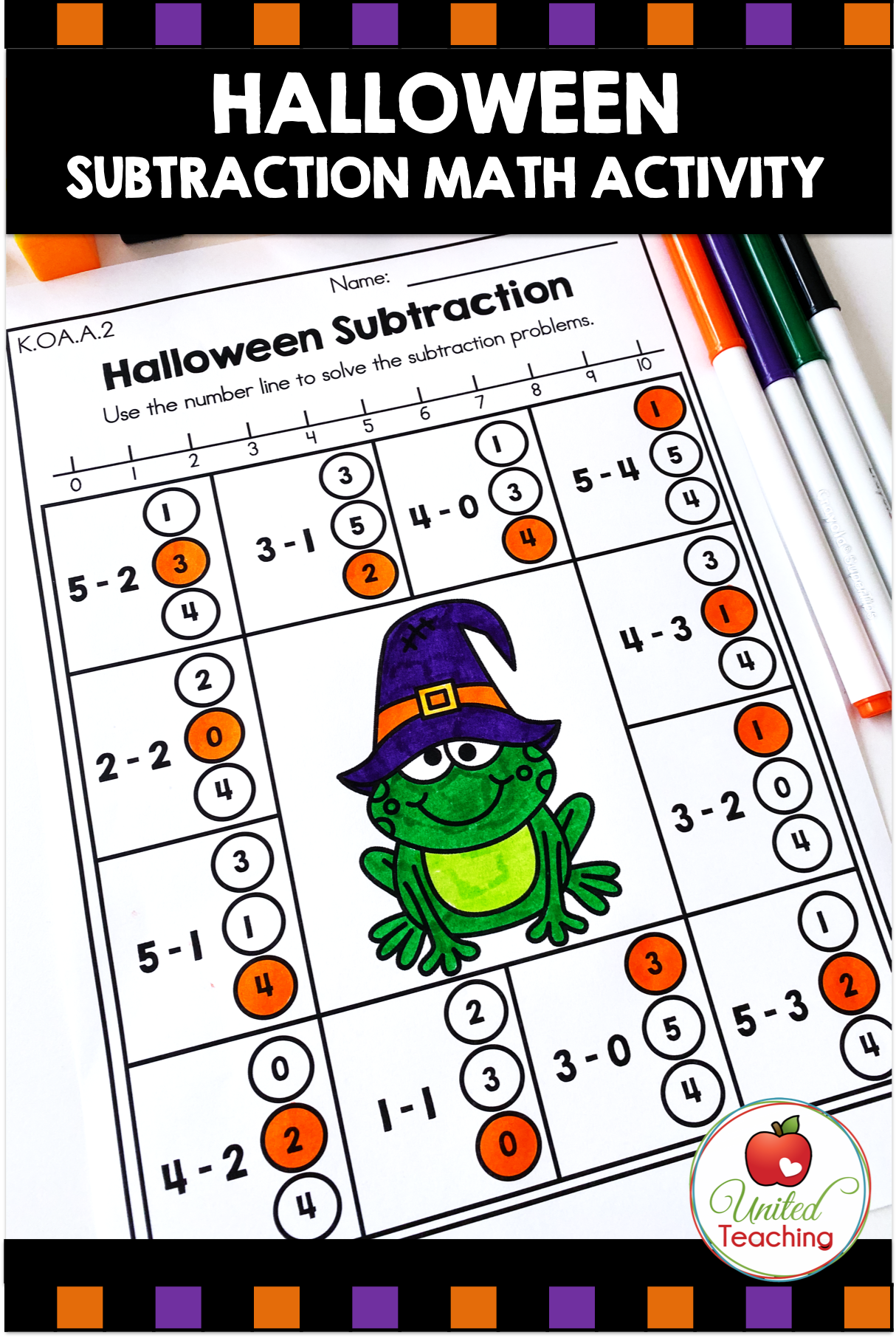 Halloween Math Activities Kindergarten With Images