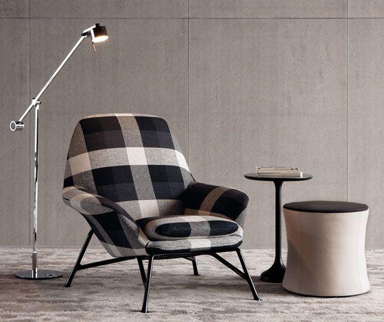 U0027Princeu0027 Armchair By Rodolfo Dordoni For Minotti Dailytonic. Take DWR Chair  And Upholster In Plaid