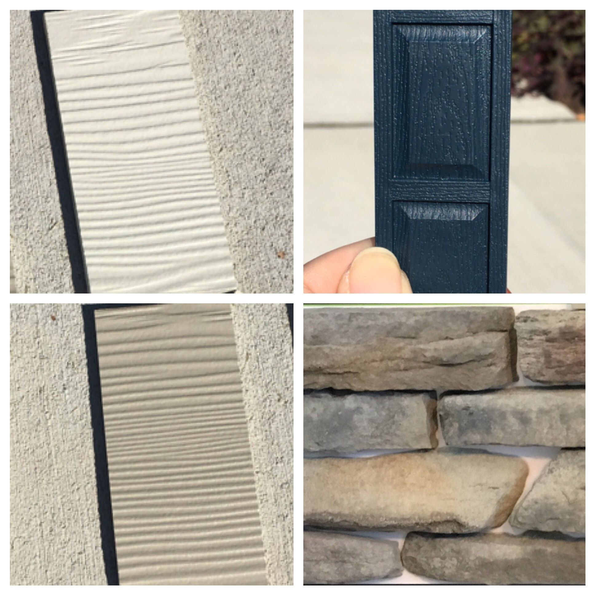 Natural Clay And Linen Exterior Midnight Blue Shutters And Door