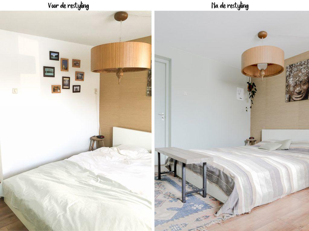 Fotos Slaapkamer Restylen : Mint groene muur in de slaapkamer on the
