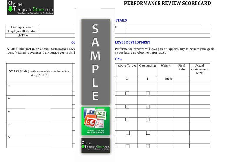 Employee Performance Scorecard Template Unique Human Resources Templates Free Business Card Templates Templates Free Printable Card Templates