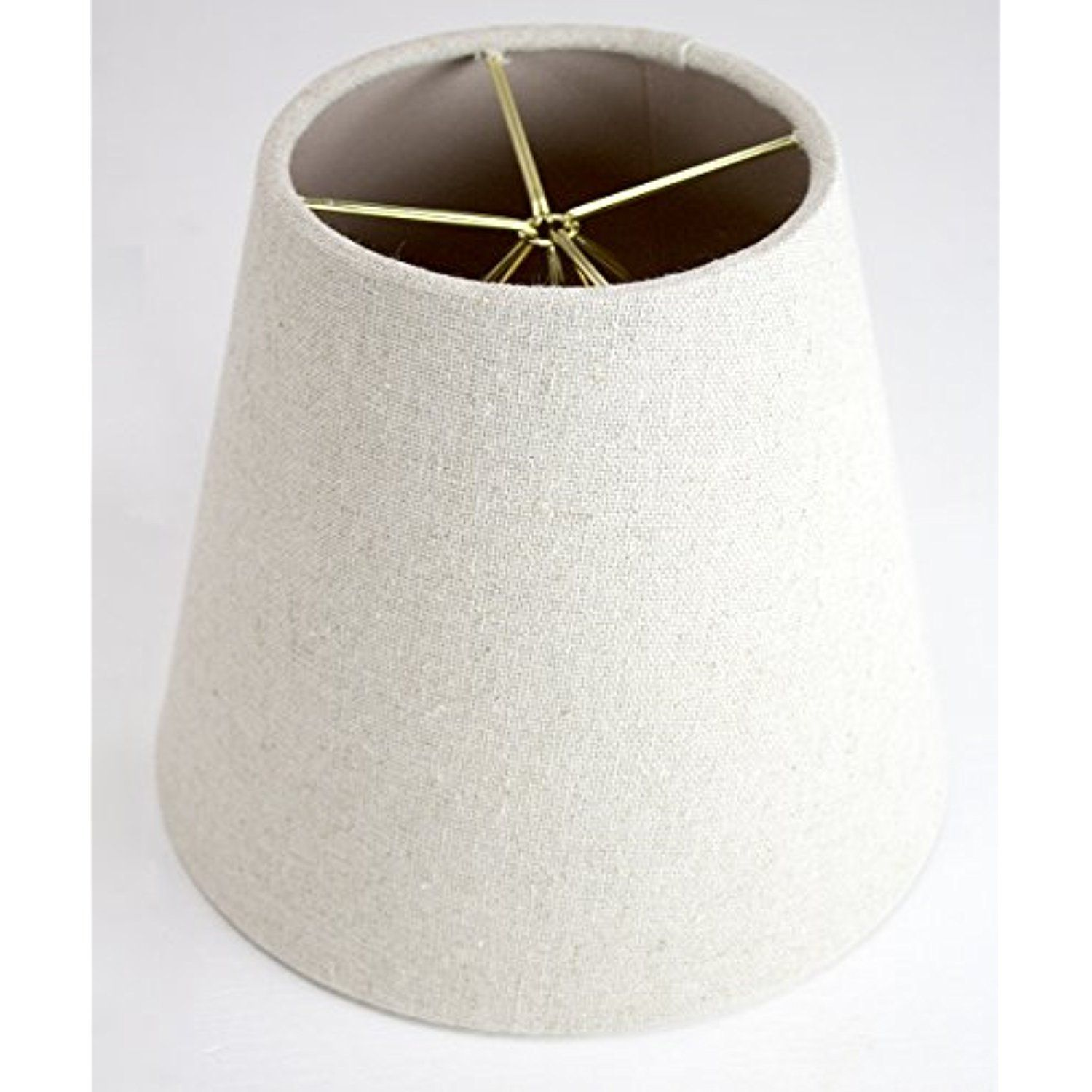 5x8x7 Empire Sand Linen Edison Clip Lampshade By Home