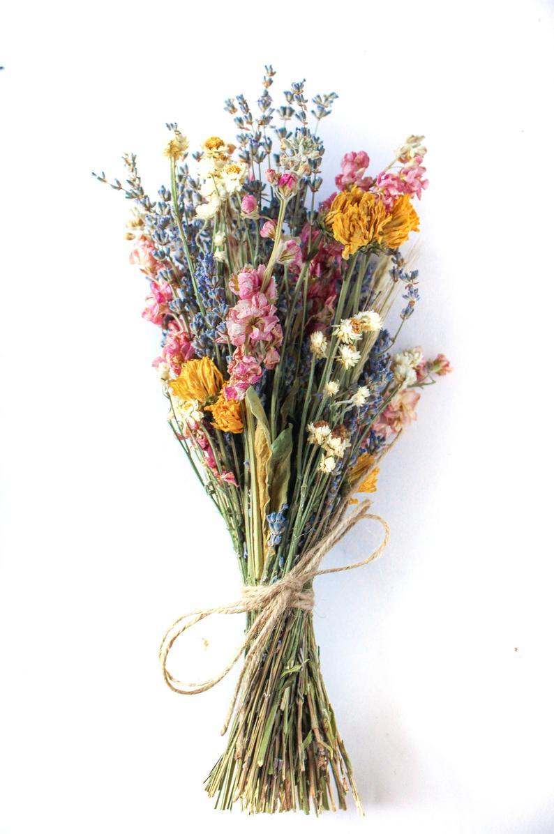 Bridal Lavender Mix Bunch Dried Lavender Mix Bridle Bundle Etsy Dried Flowers Dried Flower Bouquet Dried Bouquet