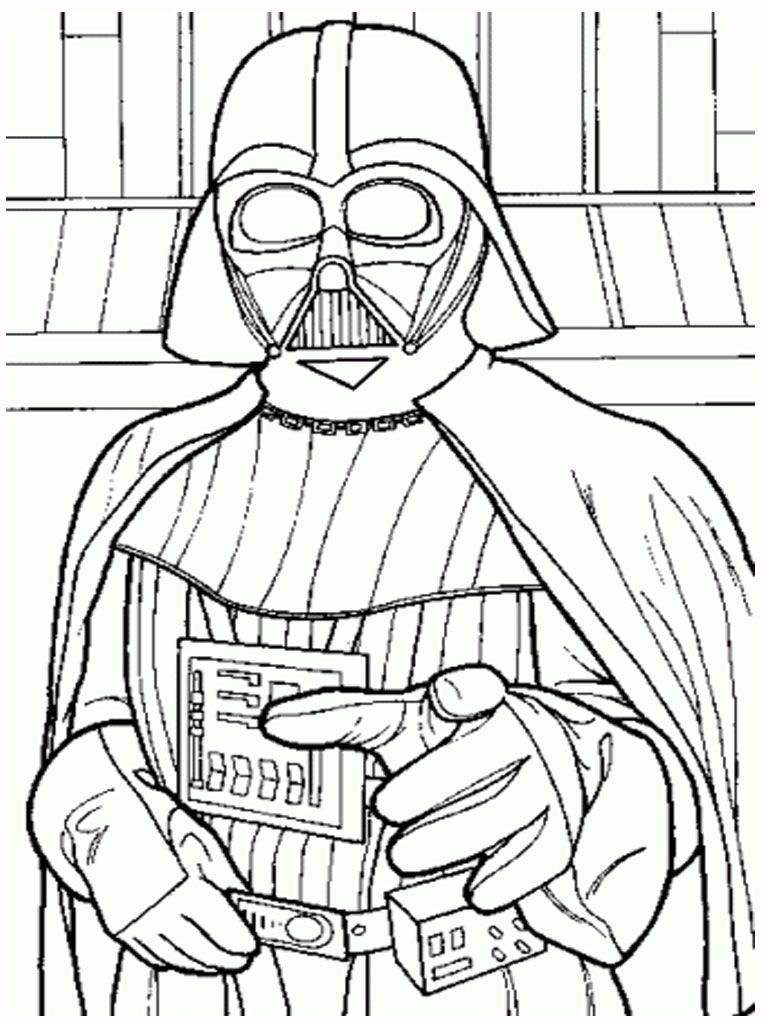 darth vader star wars coloring pages printablejpg