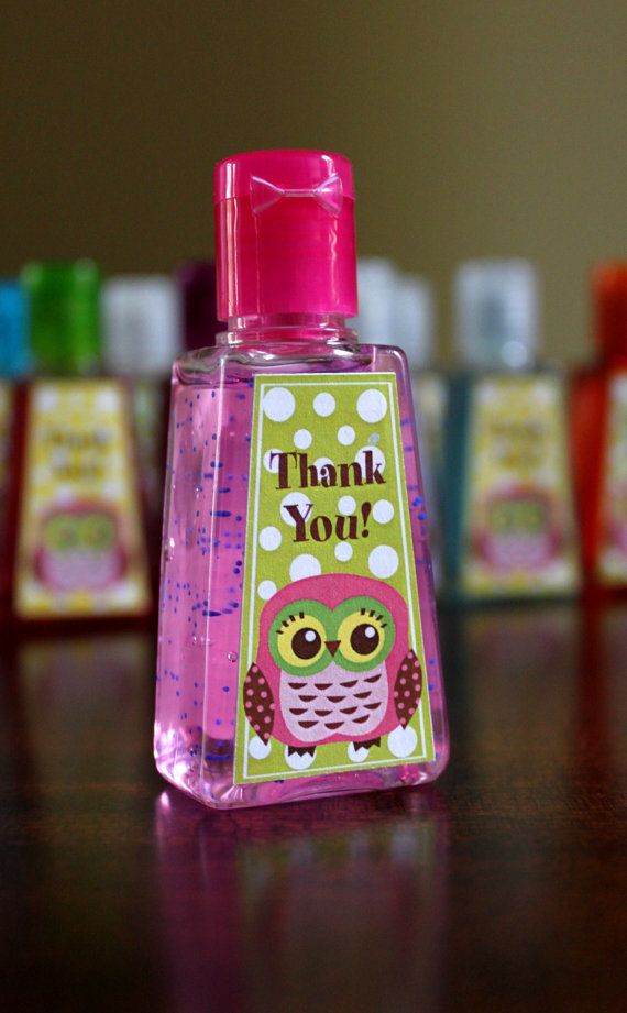 Owl Party Favors 1 Fl Oz Pocket Hand Sanitizer By Margaretsoo