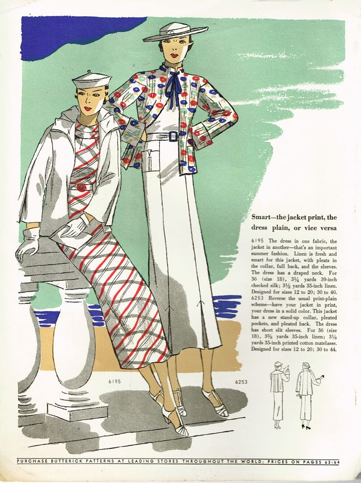 1930s Vintage Butterick Fashion Magazine Pattern Quarterly Catalog ...