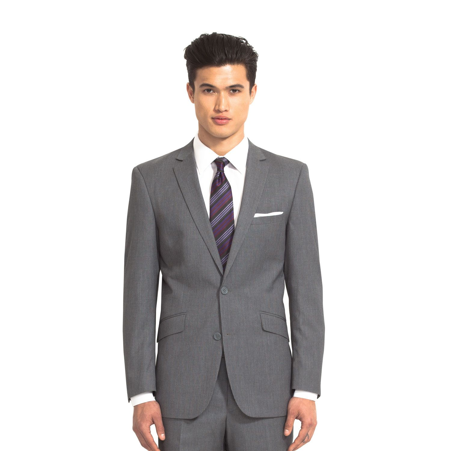 The Grey Pinstripe Slim Fit Suit | Combatant Gentlemen | Suits ...