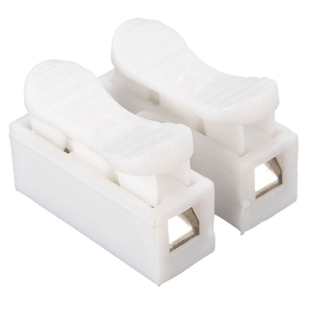 2x 2P Spring Wire Clamp Terminal Block No Welding For LED Strip ...