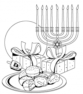 Coloring Pages Hannukah Crafts Hanukkah Crafts Coloring Pages