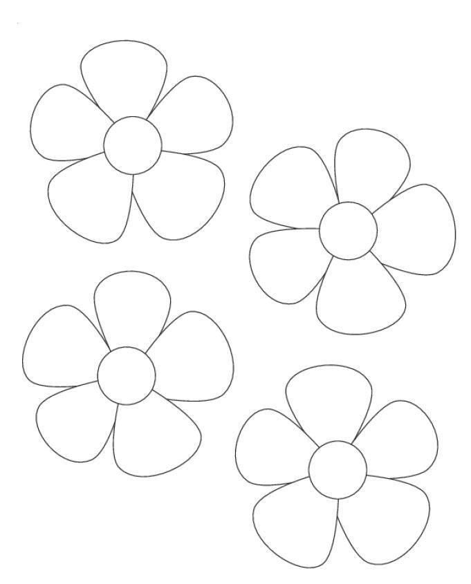 Image Result For Printable Flower Template Cut Out Paper Flowers