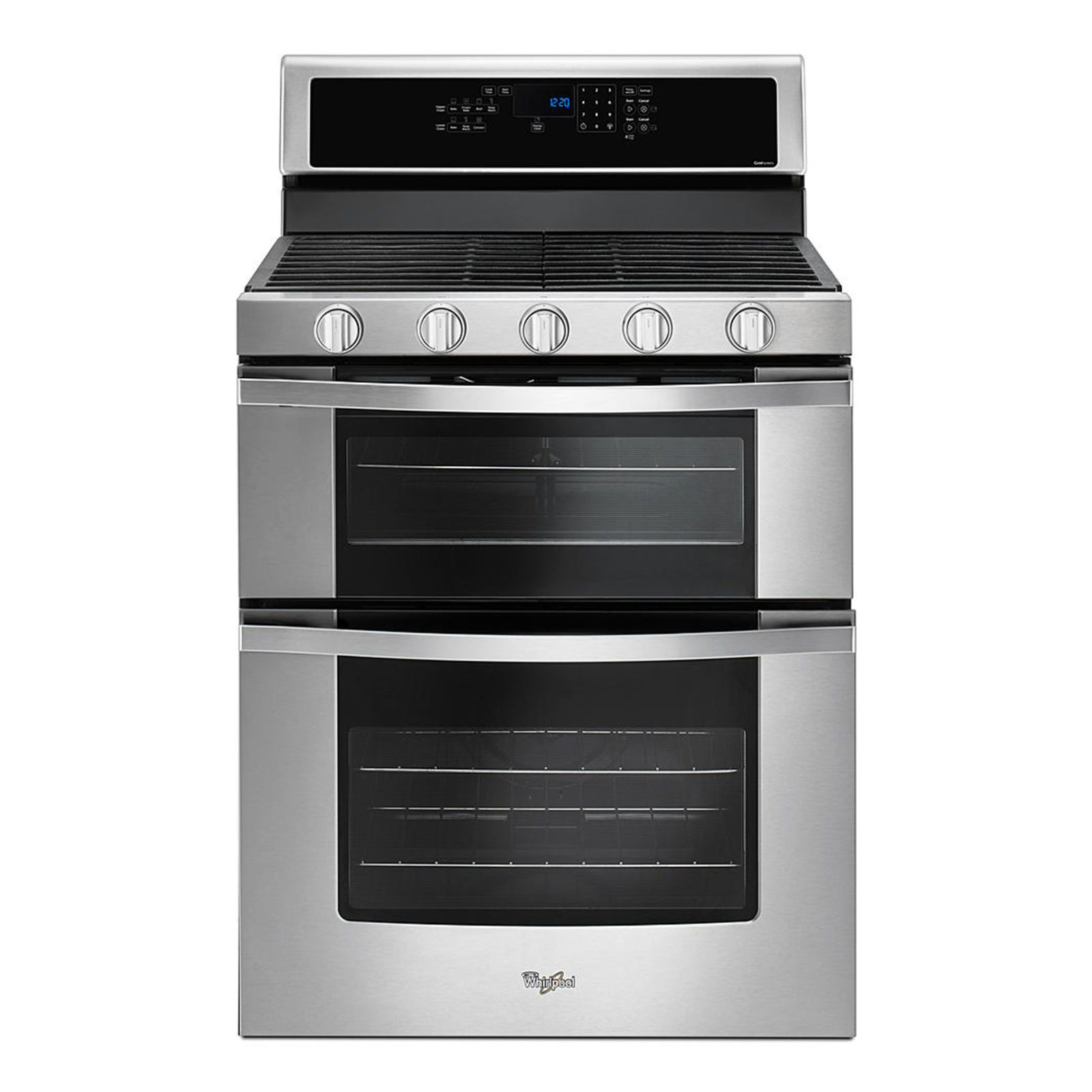 Whirlpool white ice costco - Whirlpool 6 0 Total Cu Ft Double Oven Gas Range With Accubake System Wgg555sobs