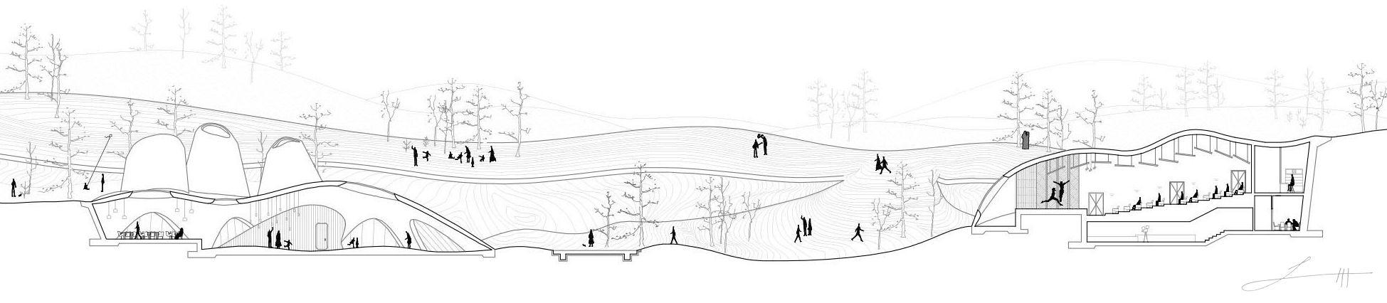 Section by architect Fernando Herrera