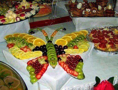 Populaire buffet froid présenté en forme de papillon | cuisine | Pinterest  FZ55