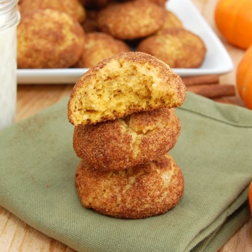 Pumpkin Snickerdoodles.  If it ever gets below a million degrees, maybe we'll start cooking some fall foods.