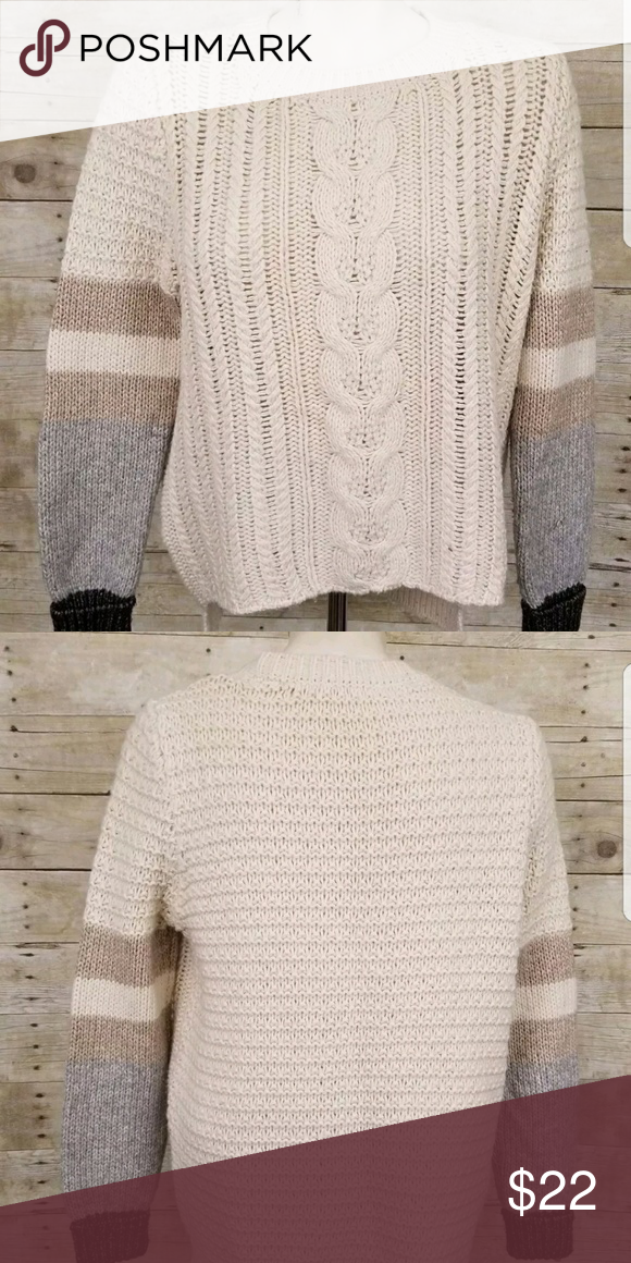 da74aa373650 Victoria s Secret Fair Isle Cable Knit Sweater Sm Victoria s Secret Fair  Isle Cable Knit Ivory Sweater