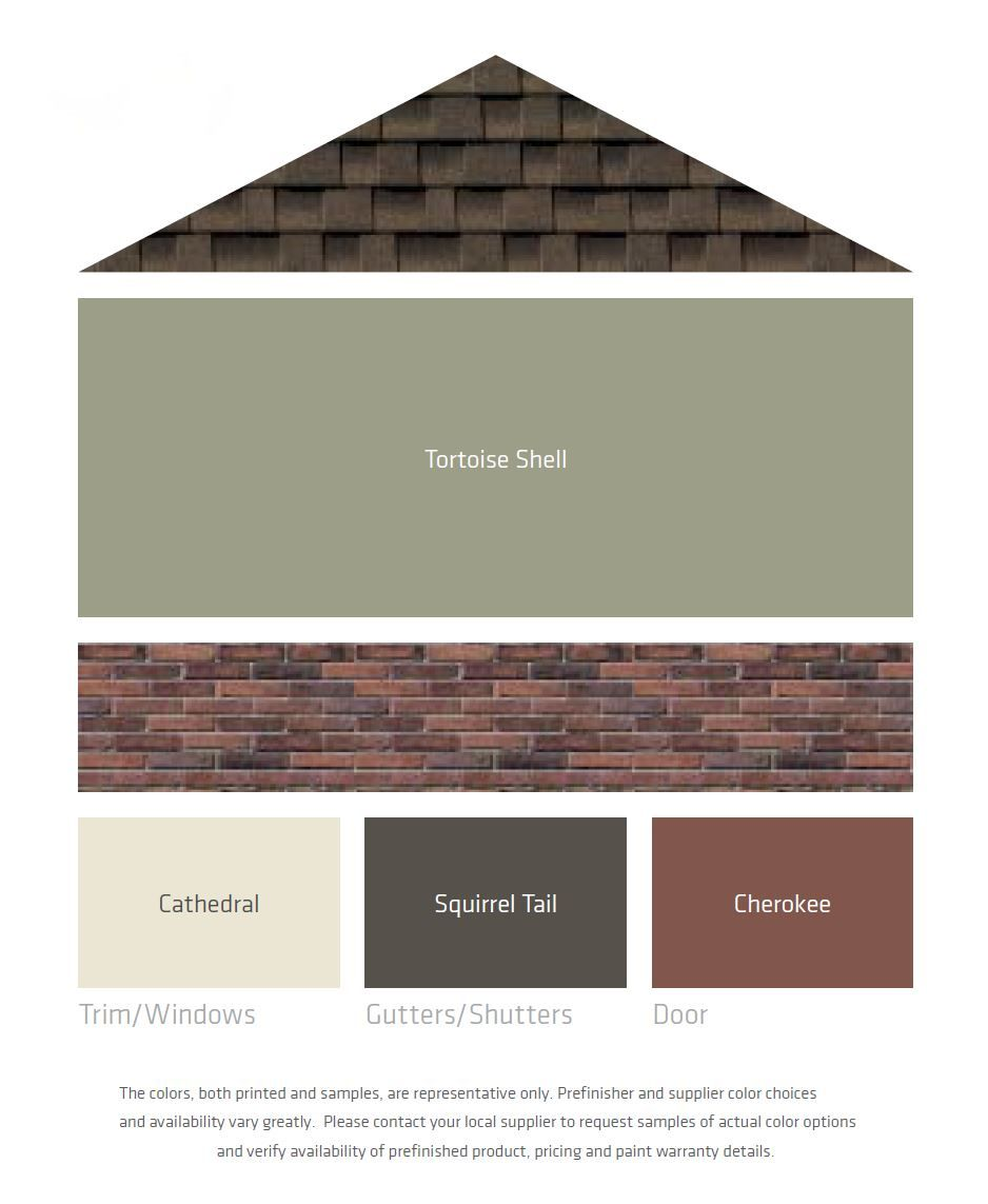 Exterior paint ideas brown - Fresh Color Palettes For A Brown Roof More