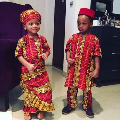 Photos nigerian celebrity children dress in their traditional attire to celebrate independence Fashion and style school in nigeria