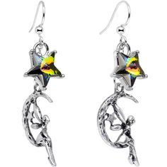 Handcrafted Fairy Dangle Earrings Created with Swarovski Crystals | Body Candy Body Jewelry