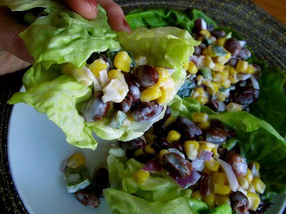 Tex-Mex Corn and Black Bean Salad Wraps