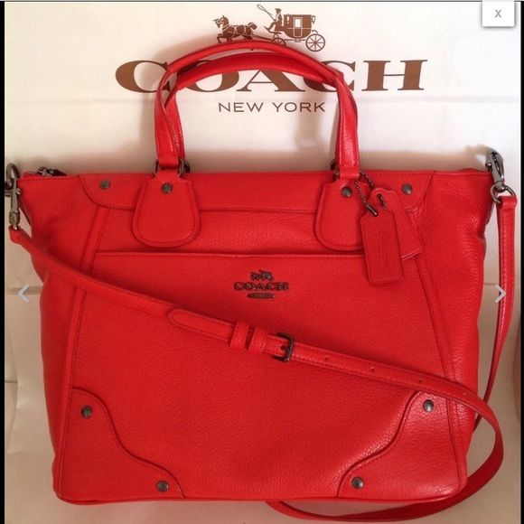 Spotted while shopping on Poshmark  NWT COACH LEATHER MICKIE CROSSBODY  SATCHEL!  poshmark  fashion  shopping  style  Coach  Handbags d3246e5a10
