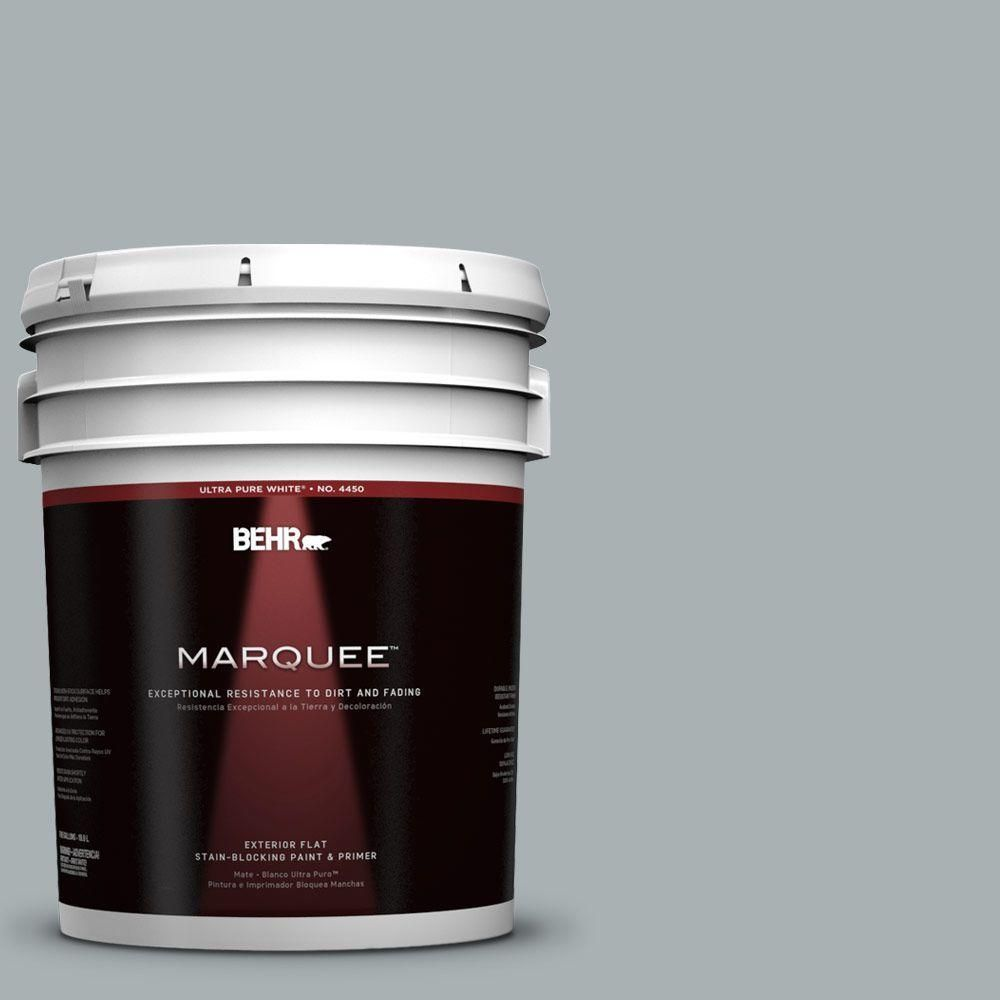 BEHR MARQUEE 5-gal. #730F-4 Flint Smoke Flat Exterior Paint