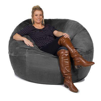 593828c4ca3d Jaxx Giant Bean Bag Sofa Upholstery  Microsuede Charcoal. Latitude Run ...