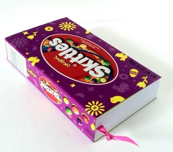 Easter Skittles Recycled Candy Box Journal, Candy Box