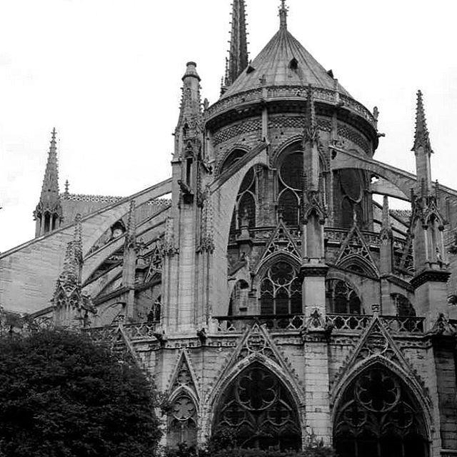 #architecture #monochrome #blackandwhite #paris #france #gothic