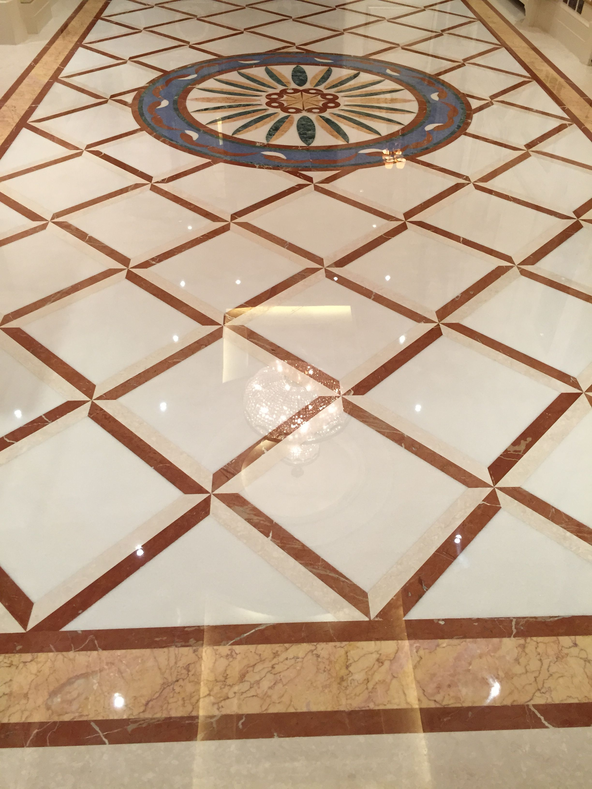 Diamond Polishing Marble Floor Belgrave London Shopping Mall