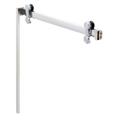 Delta 48 in. to 60 in. Contemporary Sliding Shower Door Track Assembly Kit in Chrome  sc 1 st  Pinterest & Delta 48 in. to 60 in. Contemporary Sliding Shower Door Track ... pezcame.com