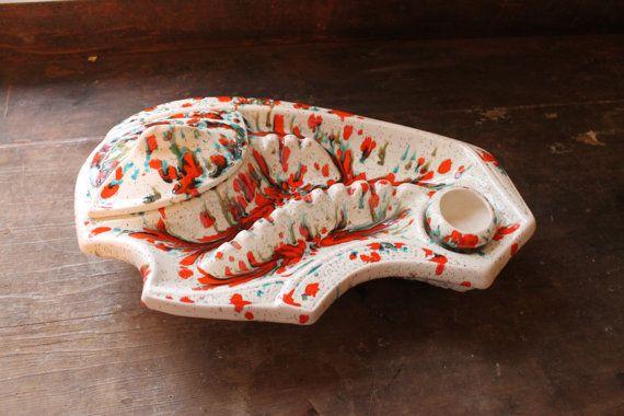 Large Ceramic Ashtray Set by SouthernVintageGa on Etsy, sold