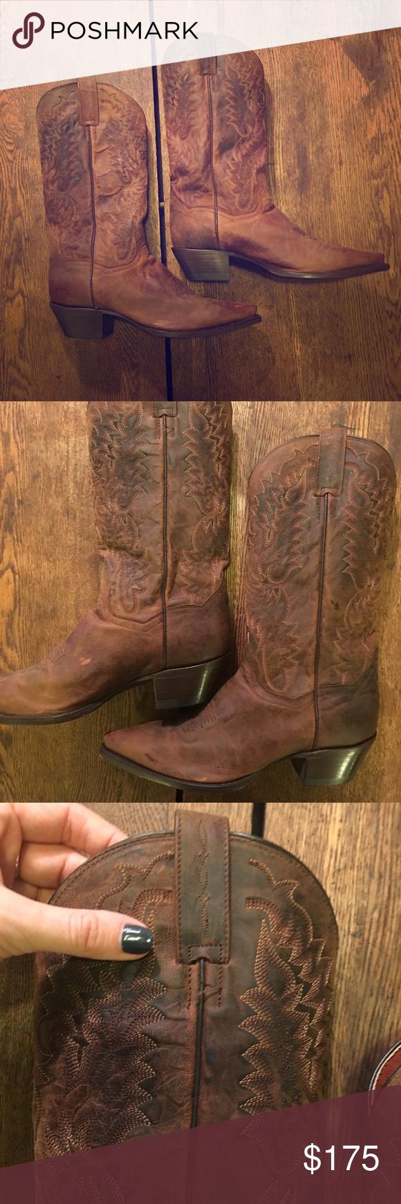 67e755f6c7f LIKE NEW Dan Post Cowboy Boots Genuine Leather Dan Post Cowboy Boots ...