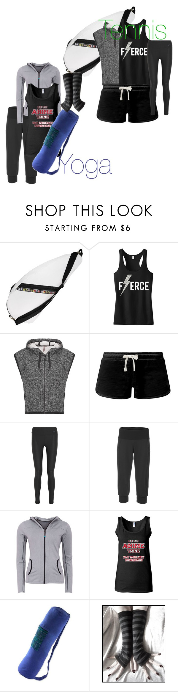 """""""Workout Outfits ("""" by melsempai on Polyvore featuring Ella Vickers, Sweaty Betty, NIKE, Lucy, Green Lamb and NOVICA"""