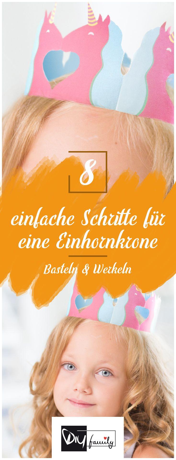 DIY Einhorn-Krone zum Kindergeburtstag #diy, #unicorn, #crone ...