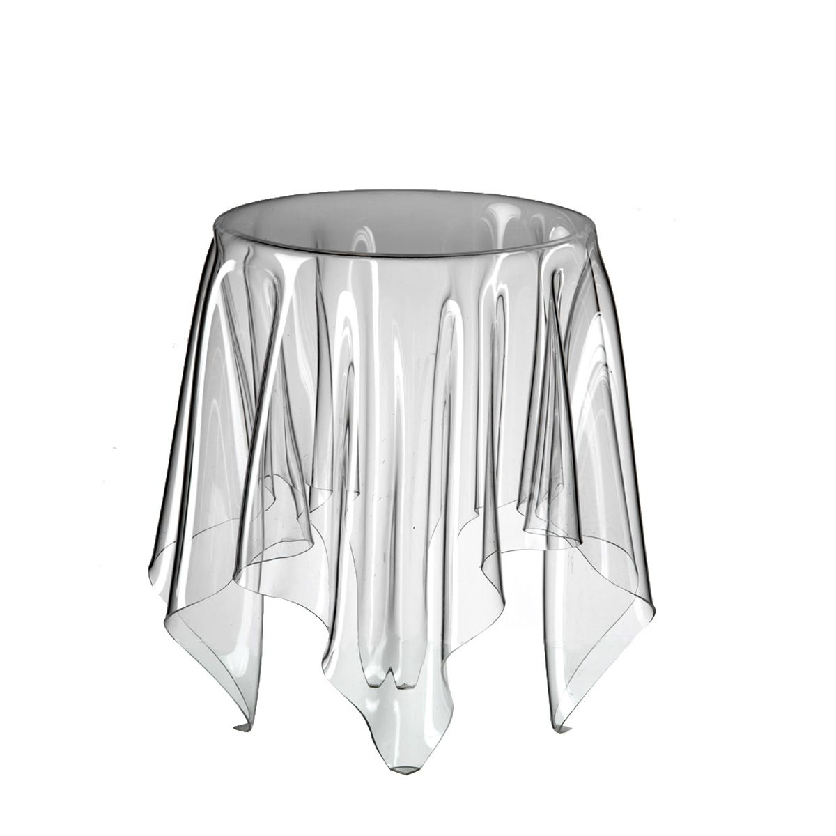 John Brauer Illusion Side Table Made Of Fragile Acrylic Appears  # Table Tv D'Angle En Verre Design Transparent