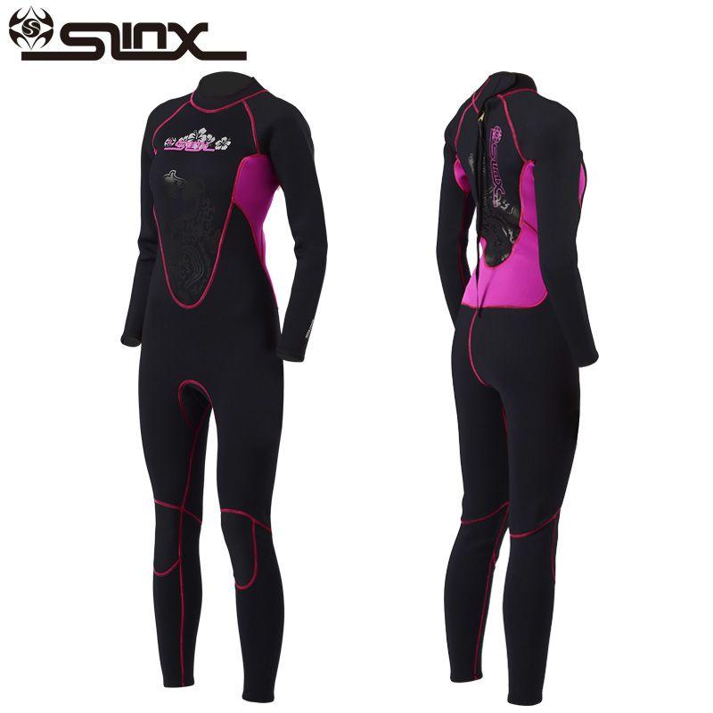 Women 3mm Neoprene Diving Wetsuits Jump Suit Scuba Surfing Warm Full Body Suits